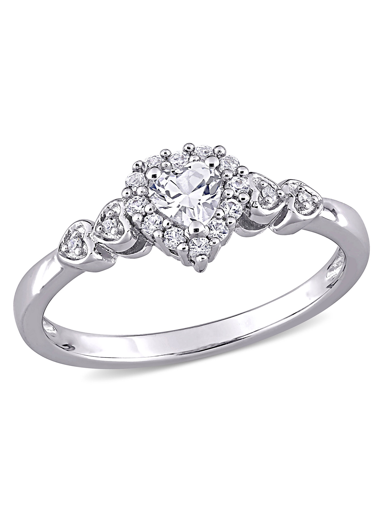3 Diamond Promise Ring in Sterling Silver Size-10.75 1//20 cttw, G-H,I2-I3