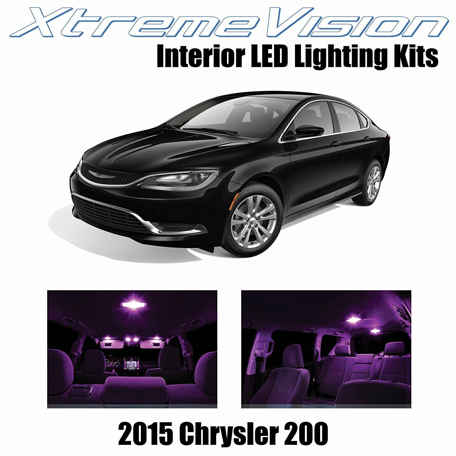 XtremeVision LED for Chrysler 200 2015+ (11 Pieces) Pink Premium Interior LED Kit Package + Installation Tool