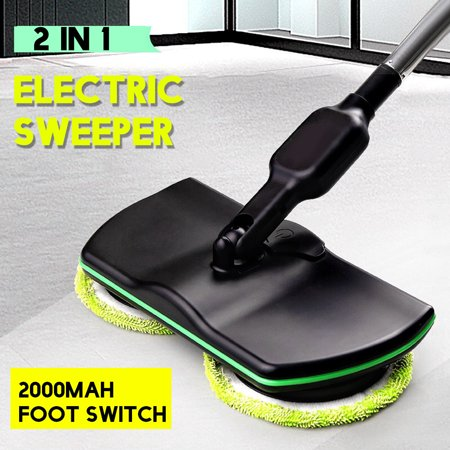 100 240v Electric Mop Rechargeable Floor Cleaner Scrubber Polisher