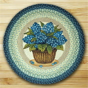 Earth Rugs 66-362BH Round Patch Rug, Blue Hydrangea