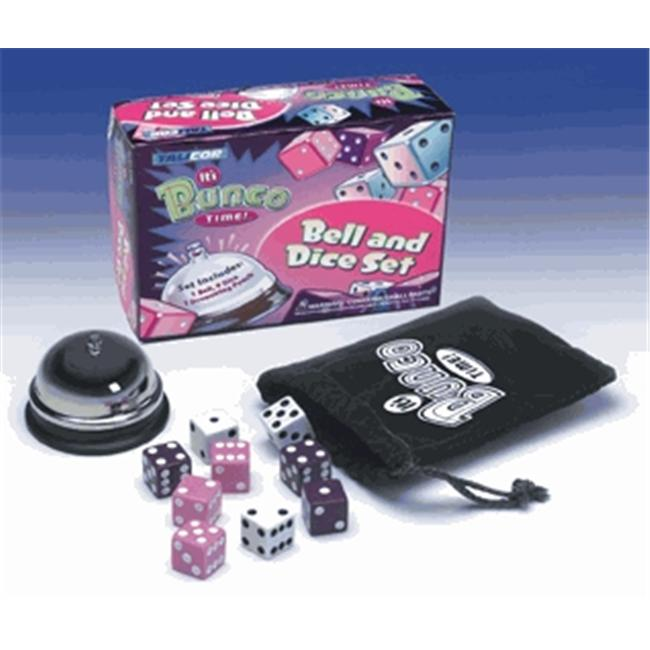 Talicor 2180 It's Bunco Time! Bell & Dice Set