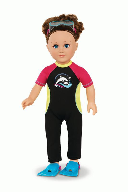 "18/"" doll clothes-fits American Girl Boy  My Life-Tank//Shorts-Heros---Lt Blue"