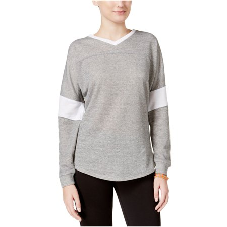 Jessica Simpson Womens Heathered Warm-Up Sweatshirt