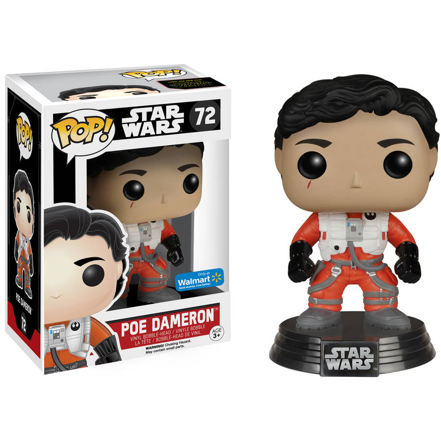 POP Star Wars: EP7, Poe Dameron (No Helmet)