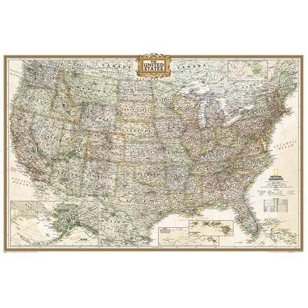 National geographic: united states executive wall map (36 x 24 inches): 9781597752206 Executive World Wall Map