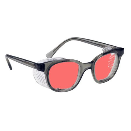 3bf45b3c41 Glass Safety Glasses In Economy Plastic Smoke Gray Safety Frame With Permanent  Side Shields - 50Mm Eye Size - Pink Lens. - Walmart.com