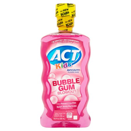 Act Kids Bubble Gum Blowout Anticavity Fluoride Rinse  16 9Oz
