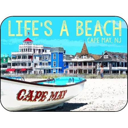 Cape May New Jersey Life's a Beach Photo Fridge Magnet