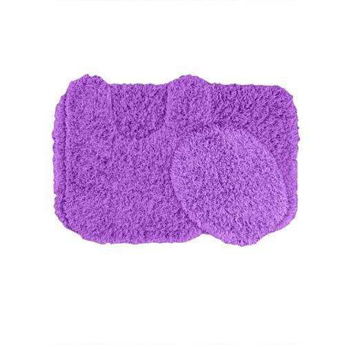 Somette  Quincy Super Shaggy 3-Piece Washable Bath Rug Set