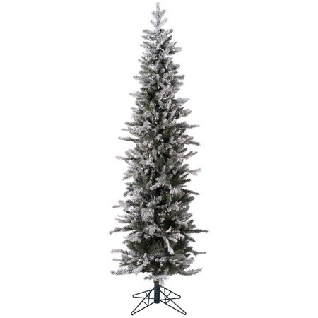 Vickerman 7' Frosted Glitter Tannenbaum Pine Artificial Christmas Tree with 300 Clear Lights ()