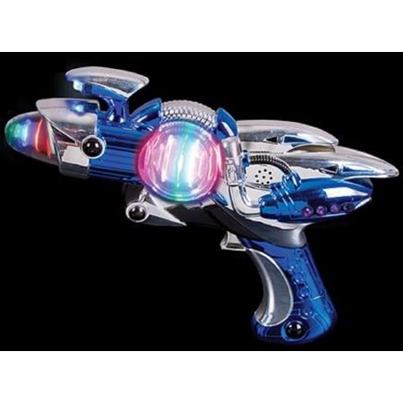 Toy Gun – Blue Light-Up Noise Blaster 11 ½ Inches Long With Cool And Fun Super Spinning Space Style – For Novelty And Gag Toys, Party Favor, Party Bag Stuffer, Party Giveaway, Gift Ideas- By Kidsco - Golf Favors Ideas
