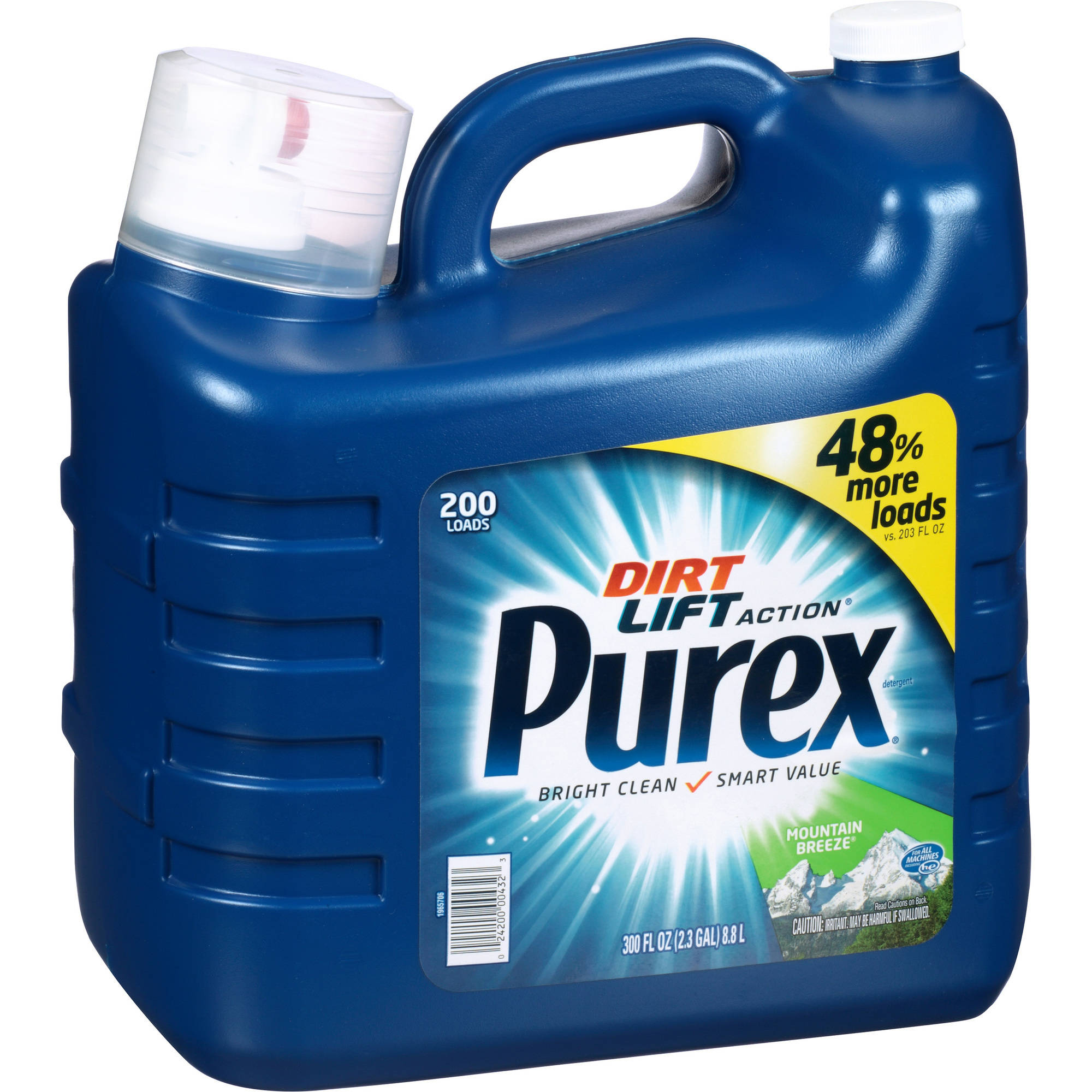 Purex Mountain Breeze Dirt Lift Action Liquid Laundry Detergent, 200 loads, 300 fl oz
