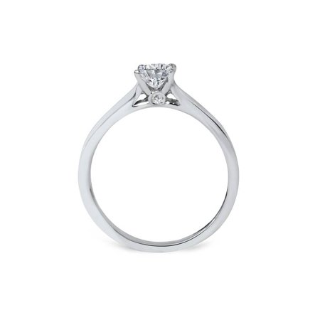 5/8ct Round Solitaire Diamond Engagement Ring 14 White Gold With Accents Jewelry - image 1 of 3