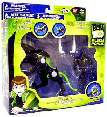 Ben 10 Alien Creatures Alien X Action Figure Set