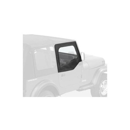 Bestop Door Sill - Bestop 53120-15 Jeep Wrangler Upper-Door Skins Set, Black Denim