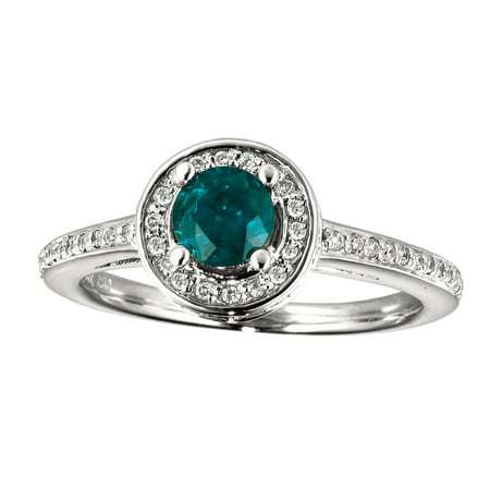 14k White Gold Emerald and Diamond Double Circle Ring Diamond Double Circle Ring