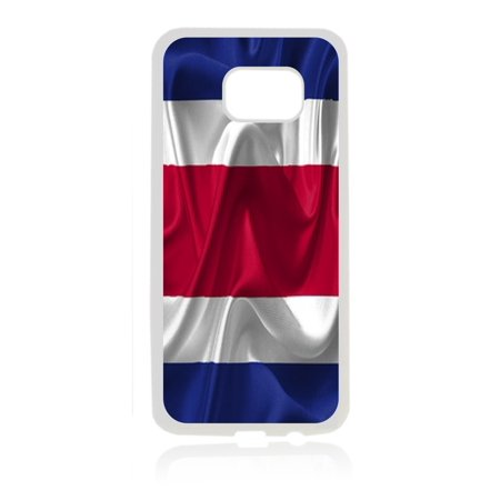 Flag Costa Rica - Costa Rican Waving Flag White Rubber Thin Case Cover for the Samsung Galaxy s7 - Samsung Galaxys7 Accessories - s7 Phone - Phone Cards Costa Rica