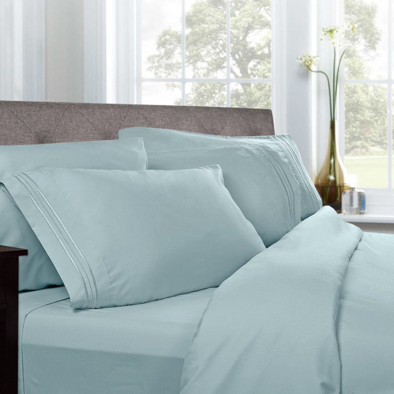 1500 Thread Count Pleated Egyptian Sheet Set by Sweet Home Collection