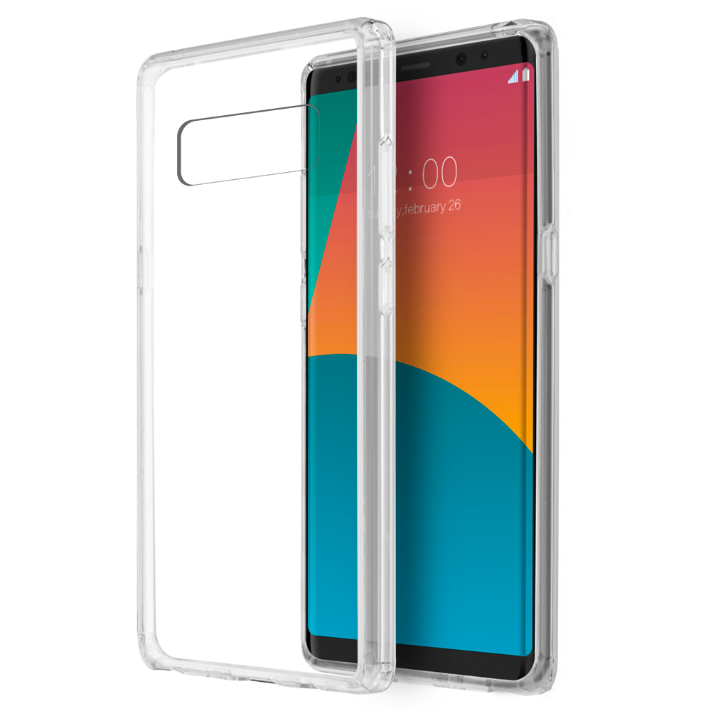 MUNDAZE Clear Candy Acrylic Clear Case For Samsung Galaxy Note 8 Phone