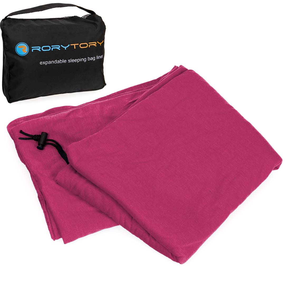RoryTory Various Color Antimicrobial Protected Expandable Sleeping Bag Liner