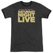 Saturday Night Live Live From Ny Mens Adult Heather Ringer Shirt