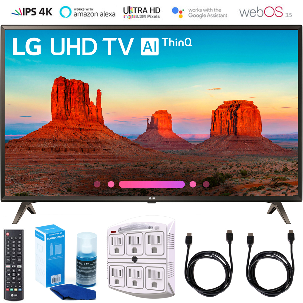 "LG 65UK6300 65"" UK6300 Smart 4K UHD TV 2018 with Surge Protector+Cleaning Kit (65UK6300PUE)"