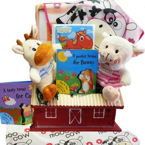 Art of Appreciation Gift Baskets Fun on the Farm Baby Gift Basket