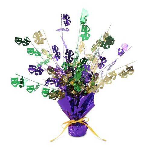 The Holiday Aisle Finkelstein Mardi Gras Gleam 'N Burst Centerpiece