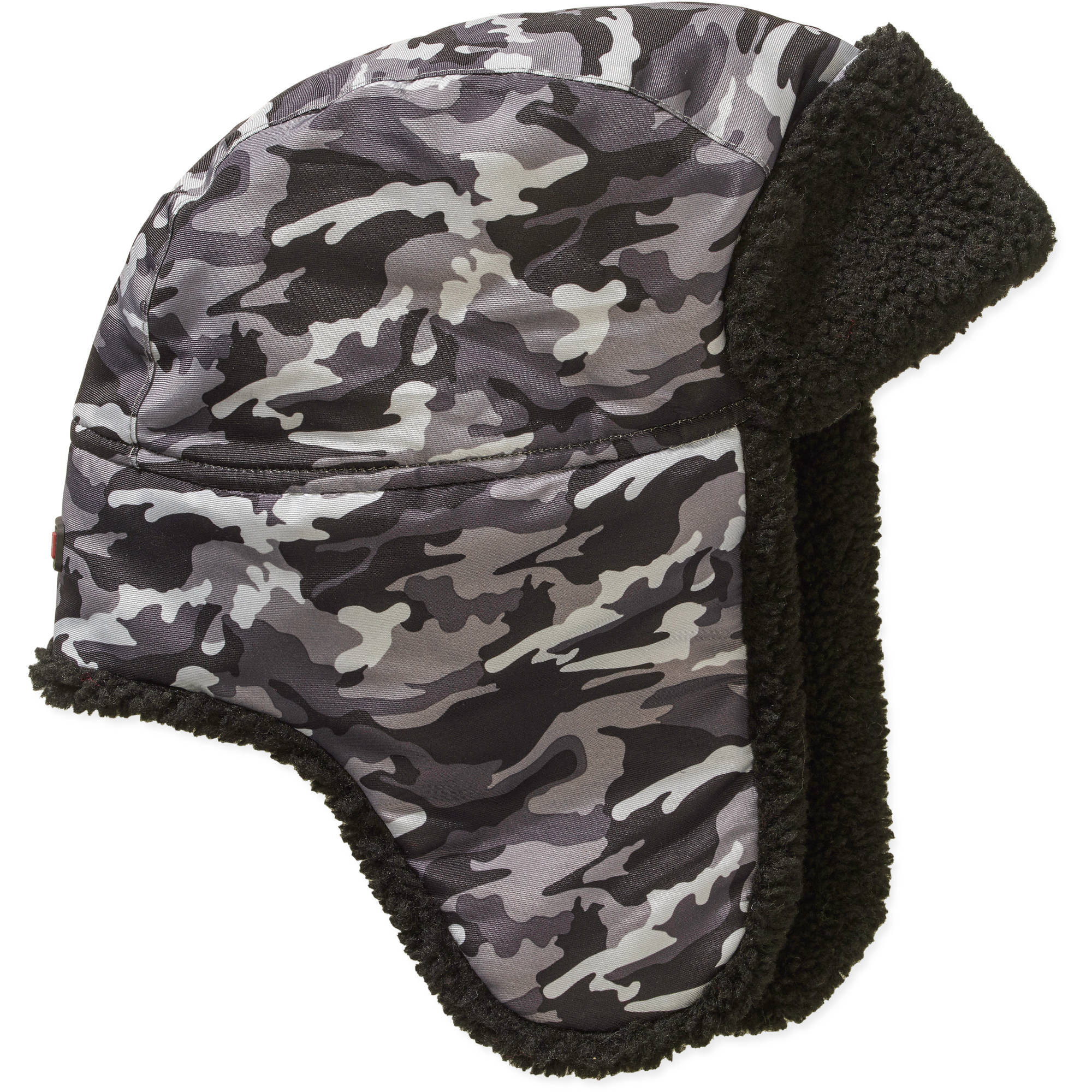 Boys Swiss Tech Black Camo Trapper Hat