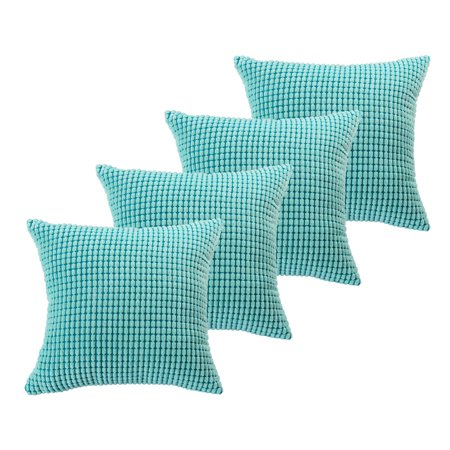 4Pcs Throw Pillow Covers Velvet Pillow Case Protector Cushion Cover ()