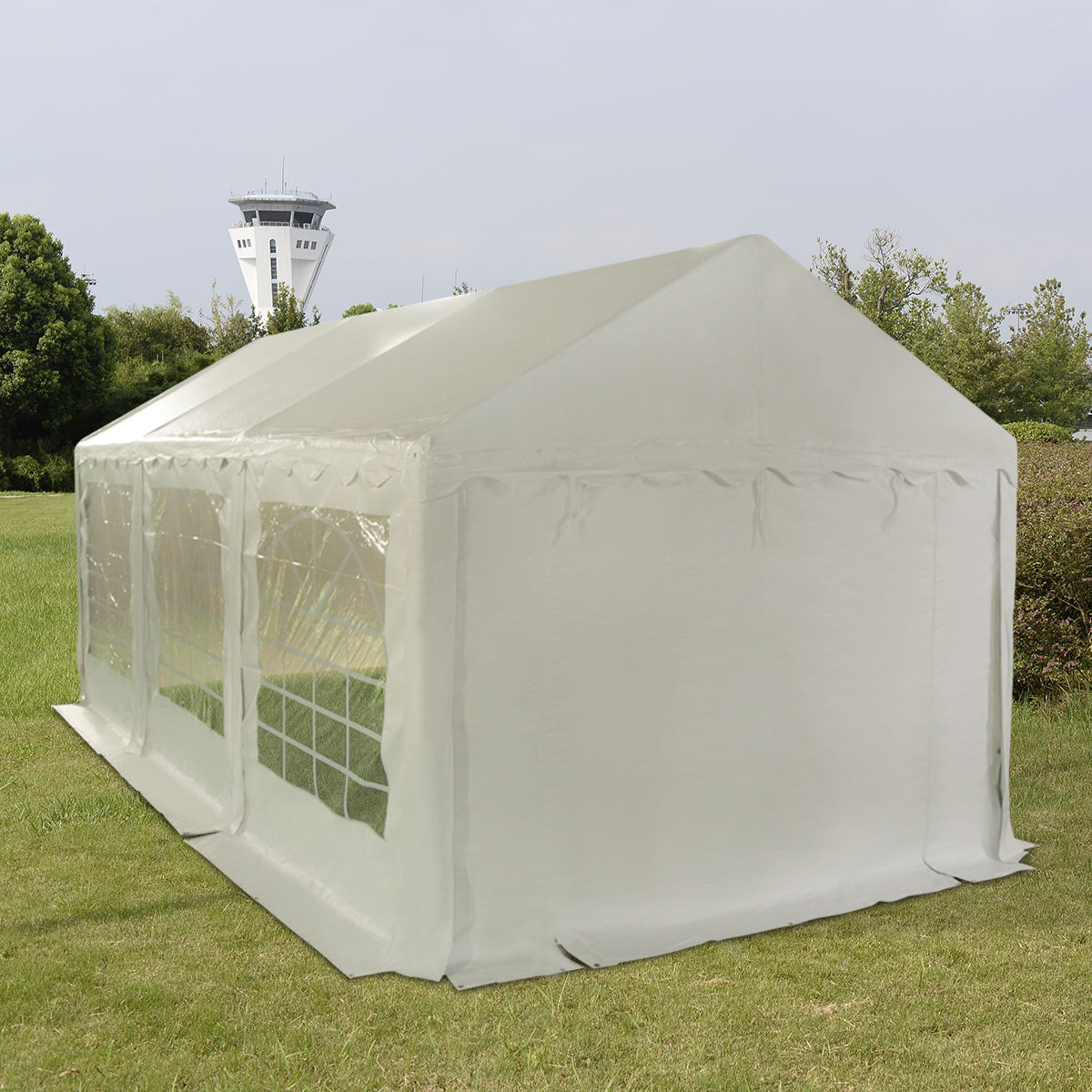 Click here to buy Costway 10'X20' Wedding Tent Shelter Heavy Duty Outdoor Party Canopy Carport White by Costway.
