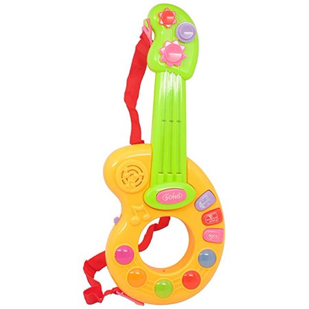 Techege Toys Childs Learning Guitar Fun Sounds Infrared Play Kids Beginner Guitar Lights and