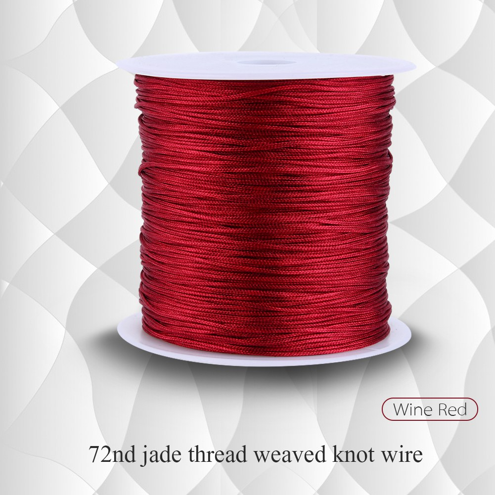 100M x 0.8mm Nylon Chinese Knot Cord Rattail Macrame Shamballa Thread String