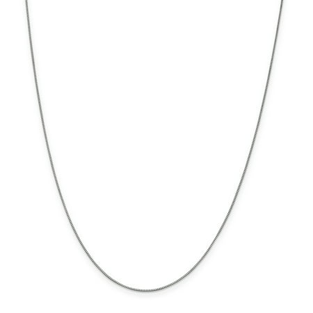 (Roy Rose Jewelry 10K White Gold .7mm Box Chain Necklace ~ Length 20'' inches)