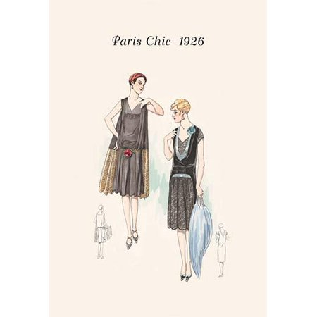 Page from a 1920s fashion catalog from France with the lastest in womens attire Poster Print by unknown](Attire Of The 1920s)