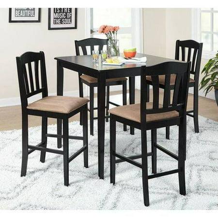 Metropolitan Counter Height 5-Piece Dining Set, Black - Walmart