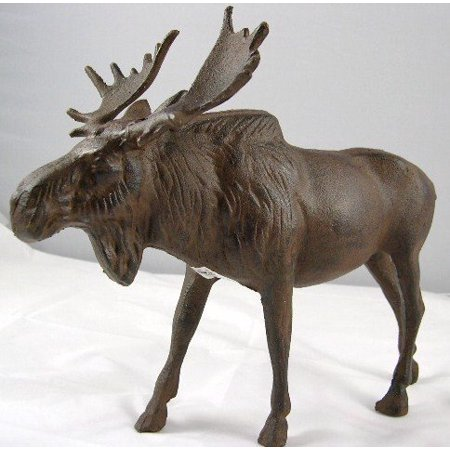 INsideOUT Full Bodied Cast Iron Moose Statue