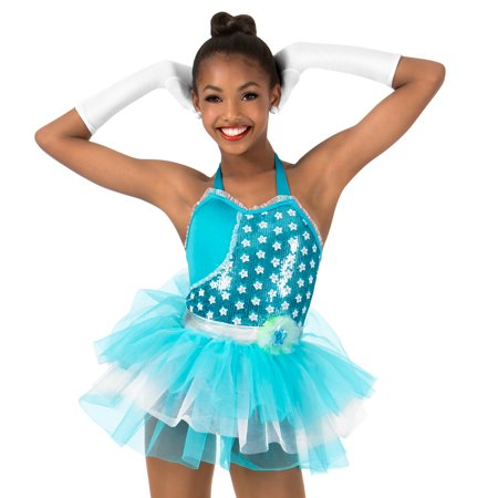 4997bc9e1b12 GRACIE - Girls Sequin Two-Toned Halter Performance Tutu Dress ...
