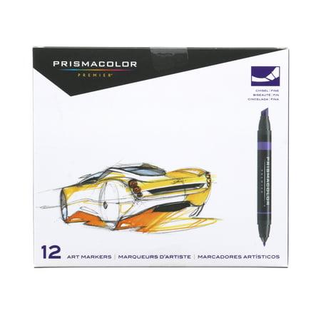 Prismacolor® Premier® Art Marker Set, Chisel/Fine Primary Set,