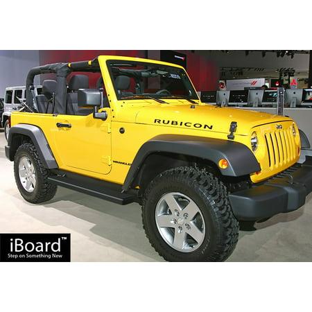 Jeep Matte Black >> Matte Black 5 Iboard Running Boards Fit 07 17 Jeep Wrangler 2 Door