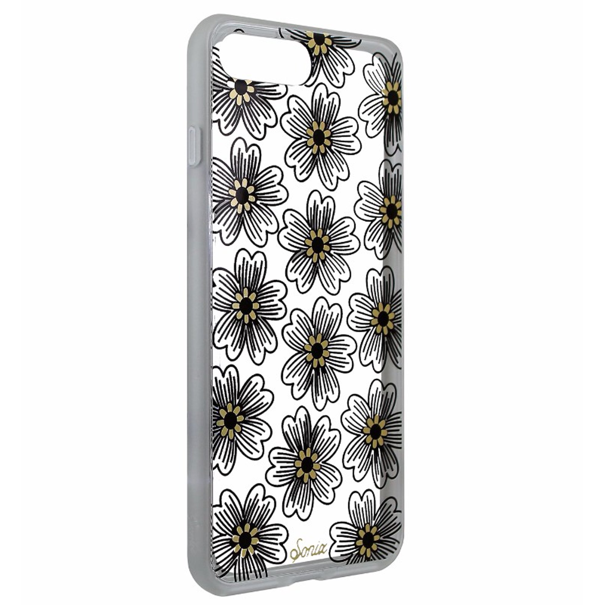 the latest 32b1b ed3b4 Sonix Clear Coat Series Case Cover for iPhone 7 Plus/8 Plus Clear/Black  Flowers