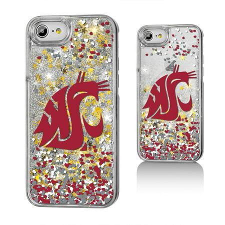 WSU Washington State Cougars Confetti Glitter Case for iPhone 8 / 7 / (Washington State Cell Phone)