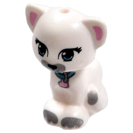 Lenox Kitty Cat (LEGO Animals Sitting White Cat Loose Accessory [Printed Face Loose] )