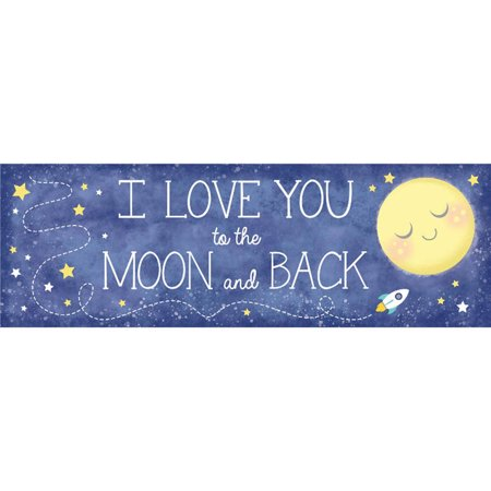 To the Moon & Back Pre Printed Banner