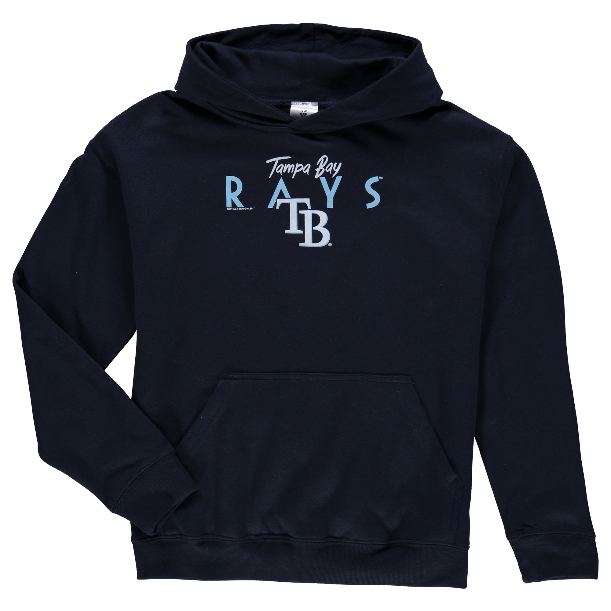 Tampa Bay Rays Soft as a Grape Youth Around the Horn Hoodie - Navy