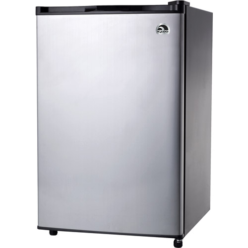 Igloo 4.5 cu. ft. Refrigerator and Freezer, Stainless Steel