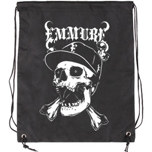 Emmure Street Skull Drawstring Backpack Black