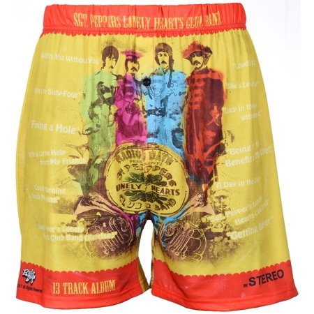 Men's Boxer Shorts Underwear by Brief Insanity The Beatles SGT. Peppers Lonely Heart Club (Chili Pepper Underwear)