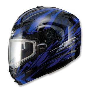 GMAX GM-54S Highmark Modular Snowmobile Helmet Blue/Black XS