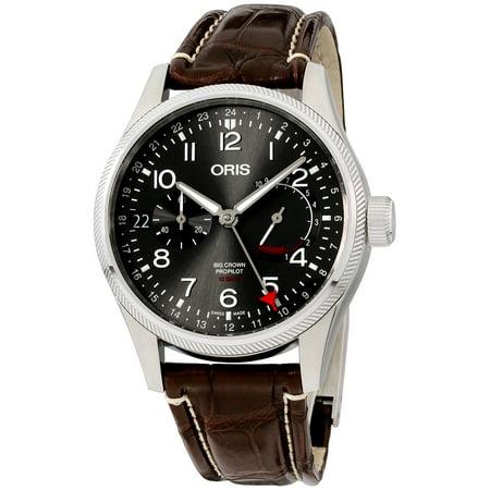 Oris Big Crown ProPilot Grey Dial Leather Strap Men's Watch